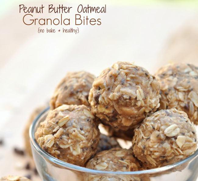No Bake Peanut Butter oatmeal energy balls