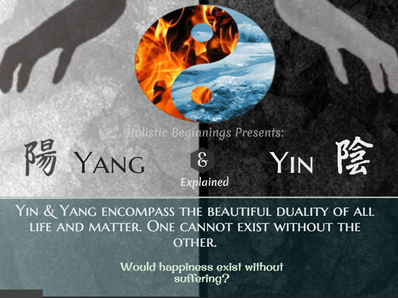 Holistic Beginnings: yin-yang with quote