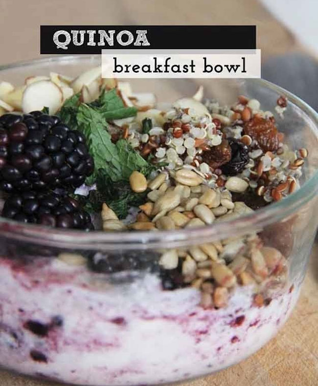healthy breafast idea quinoa